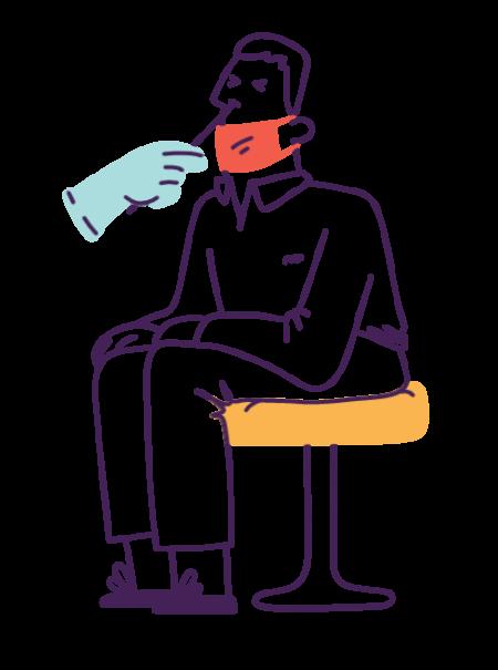 Illustration - covid check